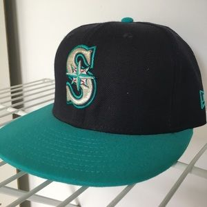 Men's New Era Seattle Mariners Fitted Hat 7 1/8